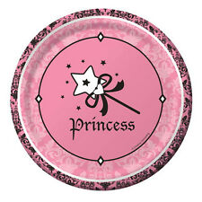 1st BIRTHDAY Royal Princess SMALL PAPER PLATES (8) ~ First Party Supplies Cake