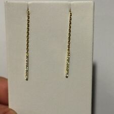 NADRI 925 Stamped Gold Tone. SWAROVSKI CRYSTAL THREADER DROP EARRINGS MSRP $48
