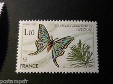 FRANCE 1980, timbre 2089, PAPILLON, GRAELLSIA, BUTTERFLY, neuf**, VF MNH STAMP