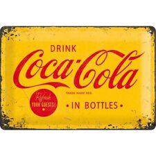 Coca Cola In Bottles Vintage Old Cafe Bar Bistro Medium 3D Metal Embossed Sign