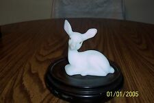 FENTON WHITE SATIN WITH PINK EARS DEER