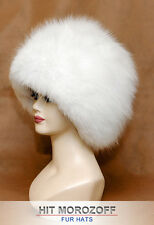 Pure White SHADOW FOX Fur Hat Russian Winter Schapka Pelzmütze Fellmütze Fuchs