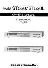 Marantz ST520 Tuner Owners Manual