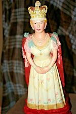 ONE IN EXISTENCE, HAND CARVED WOODEN STATUE OF QUEEN ELIZABETH THE 1st  VINTAGE