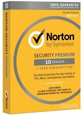 Norton Security Premium 2016 with Backup - 10 Device for PC/MAC/Android/iOS NEW✔