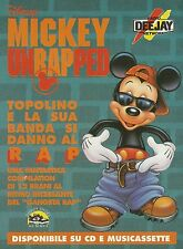 X2734 Mickey Unrapped - Radio DeeJay - Pubblicità 1995 - Advertising