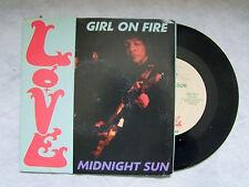 """LOVE (A.LEE) """"GIRL ON FIRE / MIDNIGHT SUN-disco 45 giri DR Distorsion Record"""""""