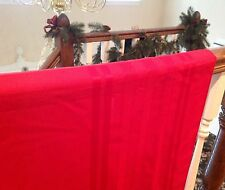"Christmas Holiday Party solid Red Easy Care Tablecloth 68"" X 52"" Rectangle"