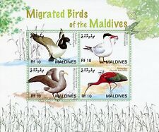 Maldives 2006 MNH Migrated Birds II 4v M/S Tufted Duck Tern Petrel Glossy Ibis