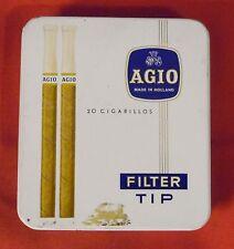 Alte Dose , Blechdose , Zigarillodose , 20 Cigarillos Agio Filter Tip ,