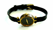 Ladies AUTHENTIC VINTAGE GUCCI  BLACK ENAMEL LEATHER BAND Watch (FOR REPAIR)