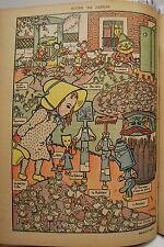 CARICATURE de JARDIN FILLETTE ARROSOIR Georges DELAW chromo typographie 1899