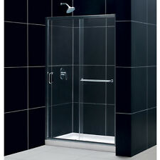 "DREAMLINE INFINITY-Z 44-48"" X 72"" FRAMELESS SLIDING SHOWER DOOR 1/4"" GLASS"