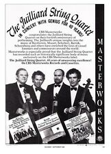 1986 The Juilliard String Quartet photo CBS Masterworks promo print ad