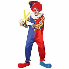 BUBBLES THE CLOWN Adult Size Circus Jumpsuit Costume