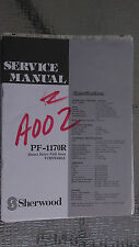 sherwood pf-1170r service manual repair book schematic turntable record player