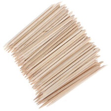 Wood Sticks 100Pcs Cuticle Pusher Remover Pedicure Manicure Tool Nail Art