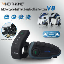 1x1000m Motorcycle Helmet Remote ControI interphone Bluetooth Intercom Headset