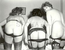 Org Vintage 1940s-60s Nude RP- Three Well Endowed Women- Panties- Show Off Butts