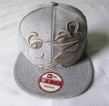 NEW ERA CAP HAT 9FIFTY SNAPBACK THE PINK PANTHER COMICS GRAY FLEECE FACE