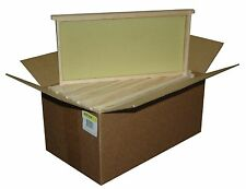 10 PACK Assembled Bee Hive Frame Waxed Natural Foundation Honey Box Set Keep