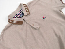 S3693 FILA POLO SHIRT BEIGE ORIGINAL PREMIUM TOP QUALITY VINTAGE size XL