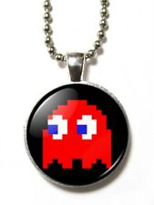 Magneclix magnetic pendant-Pacman - 8 bit Red Ghost/Blinky
