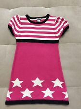 Hartstrings Pink White Knit Cotton Dress With Stars Size 5