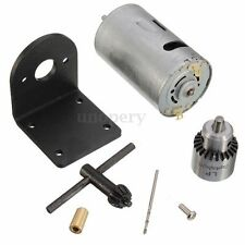 Mini Trapano a mano DIY Lathe Press 555 Motor Chuck+Mounting Bracket DC 12-24V
