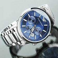 New Emporio Armani AR2448 Classic Men's Blue Dial Chronograph Watch Ship From US