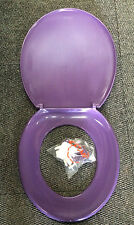 Purple / Grape Retro Toilet Seat Medium Weight 380 x 420mm