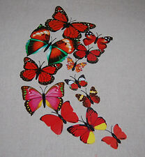 12pc Butterfly Stakes Art Outdoor Garden Yard Decor  The grass Not the same size