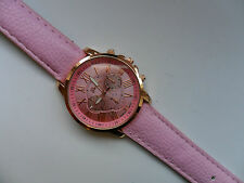 SALE  Very Smart Geneva Gold and Pink Faced Quartz Watch Pink  Strap  SALE