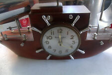 VINTAGE MASTER CRAFTERS SAIL BOAT CLOCK YANKEE CLIPPER