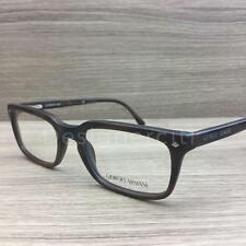 Giorgio Armani AR 7056 Eyeglasses Brushed Brown Grey Horn 5300 Authentic 51mm