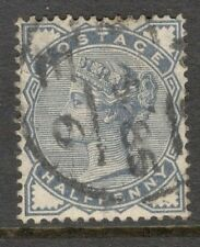 Queen Victoria - SG 187  - 1/2d.   - Slate Blue - Good Cond & Cancel
