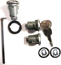 New GM OEM Chrome Doors/Trunk Lock Key Cylinder Set With Keys To Match