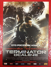CHRISTIAN BALE SAM WORTHINGTON - TERMINATOR SALVATION - Polish promo FLYER