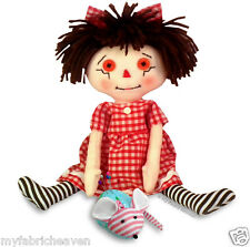 2 X Fabric Sewing PATTERNS Rag Doll & Mouse Pin Cushion Soft Toy Easy Instruct's
