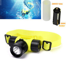 Waterproof 1800Lm T6 Headlamp Swimming  Headlight Light LED AAA/18650