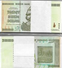 20 BILLION ZIMBABWE DOLLAR, 2008,AB, MONEY uncirculated.UNC* BUNDLE* USA SELLER*