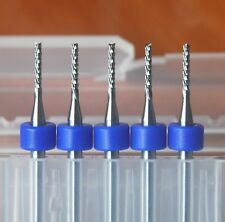 5Pcs 1.2mm Left Hand Carbide End Mill Engraving Bits for CNC/PCB/SMT New