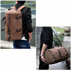 Men's Vintage Canvas Travel Backpack Rucksack school Satchel Camping Hiking bag