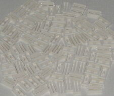 Lego Lot of 100 White Tiles Modified 1 x 2 Grille with Bottom Groove Parts