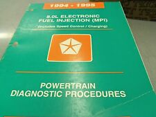 1994 1995 DODGE Ram Truck 8.0L Powertrain Diagnostic Service Manual 2500 3500