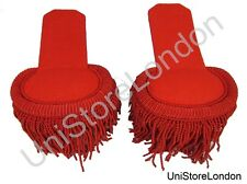 Epaulette Marching Band Shoulder Boards with Fringe in Silk Red R 1419