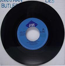 """JONATHAN BUTLER : LIES 7"""" Vinyl Single 45rpm VG"""