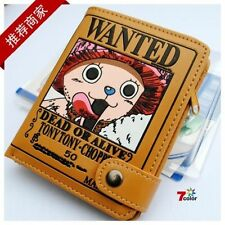 Japan Anime One Piece Tony Chopper Pirate Wanted Cosplay Leather Wallet Purse