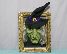 Gemmy Animated WITCH Wall Hanging Door Greeter HAPPY HALLOWEEN Evil Laugh Phrase