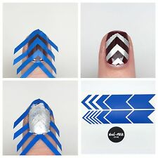 Nail Art Stencils & Stickers - 54 Wide & Thin Chevron Nail Vinyls